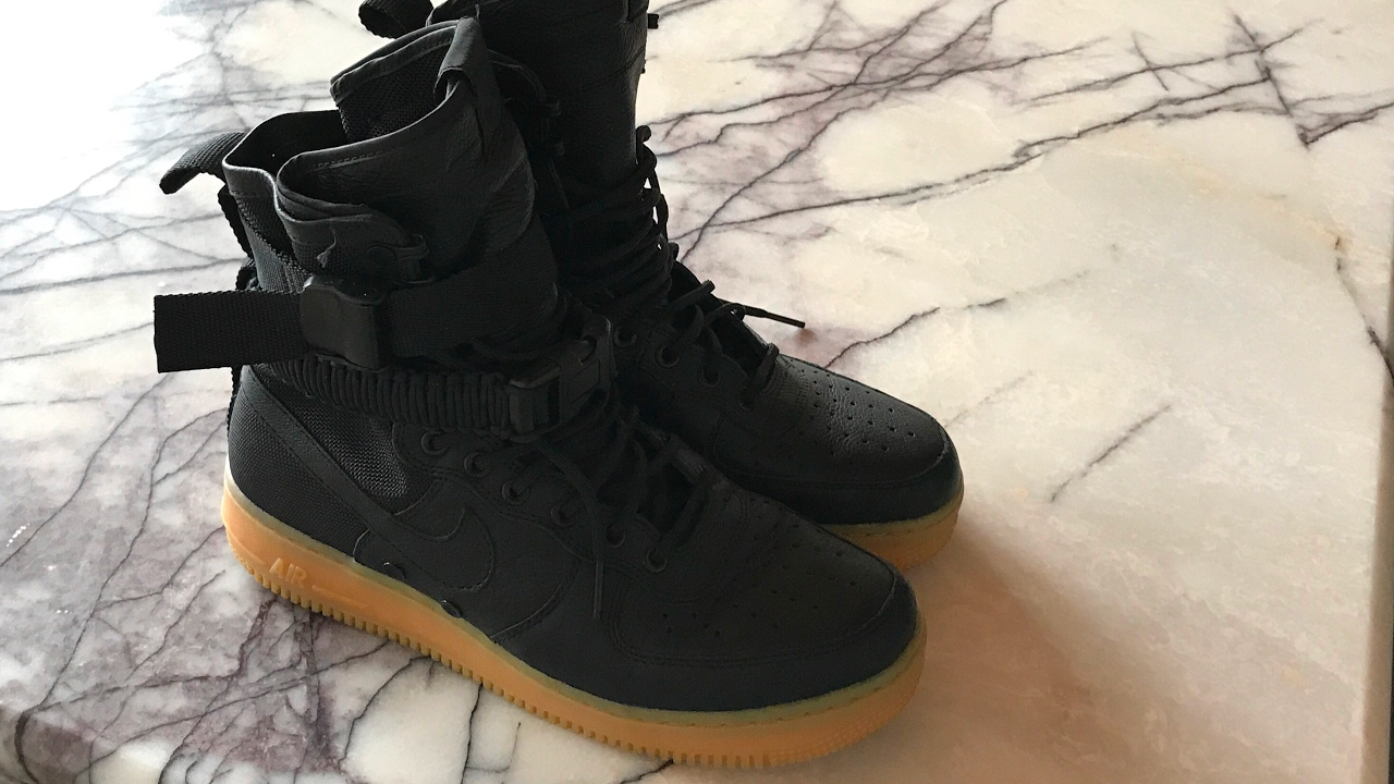 Nike SF Air Force 1 Black Review and on feet