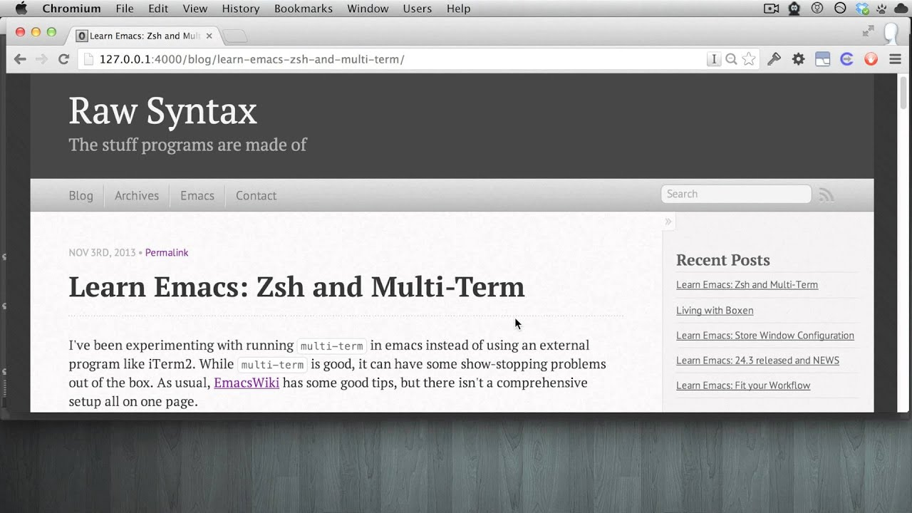 Learn Emacs: Zsh and Multi-Term