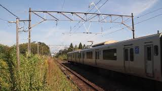 【JR九州】817系JR鹿児島本線隈之城駅発車