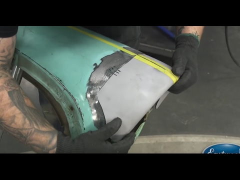 Fender Repair Fixing A 1956 Chevy Fender Body Work At