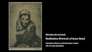 Nicholas Bervinchak and his portrait of Anna Sten