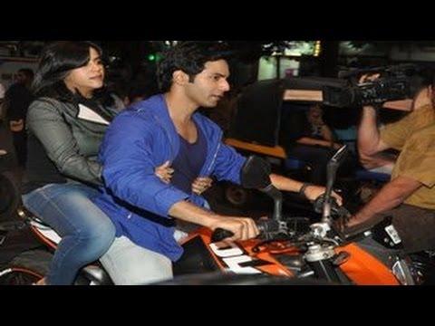 Varun Dhawan takes Ekta Kapoor on a BIKE RIDE