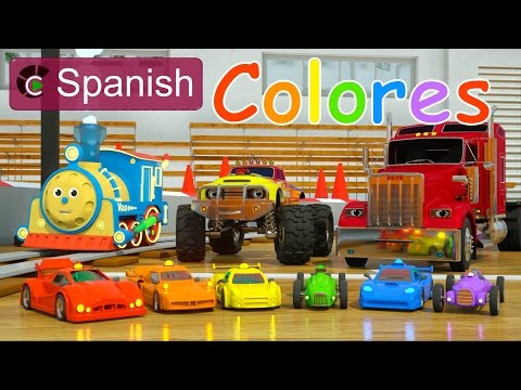 Thumbnail: Learn Colors (SPANISH) - Colores y coches de carreras con Max, Bill y Pete el camión - TOYS