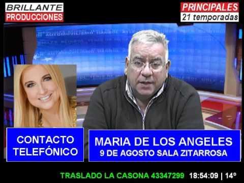 BRILLANTE PRODUCCIONES CANAL 11 SANTA LUCIA PRINCIPALES CON MARIA DE LOS ANGELES  24 JULIO 2017
