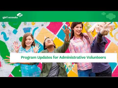 New Program Content Webinar for Administrative Volunteers