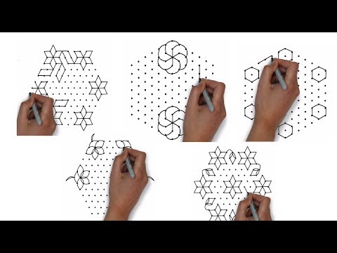 best of 13x7 interlaced dots || pongal kolam designs  || easy rangoli designs