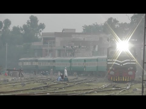 Pak Rail ! Beautiful Rail Car Curve View || Train Changing Track At Shahdara Junction || Lahore