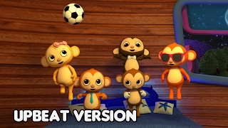 Five Little Monkeys Jumping on the Bed • Nursery Rhymes Song with Lyrics • Cartoon Kids Songs