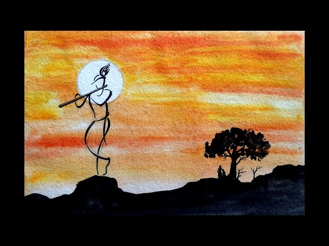 How to Draw Krishna Painting for Beginners and Kids Step by Step | Janmashtami Special Learn Art #2