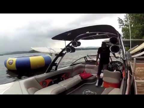 Вэйксерфинг  Катание на волнах за катером