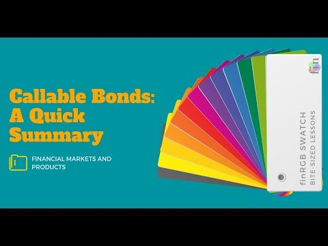Callable Bonds Summary (CFA Level 2 | FRM Part 1, Book 3, Financial Markets and Products)