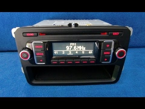 vw rcd 210 mp3 radio autoradio carradio car black