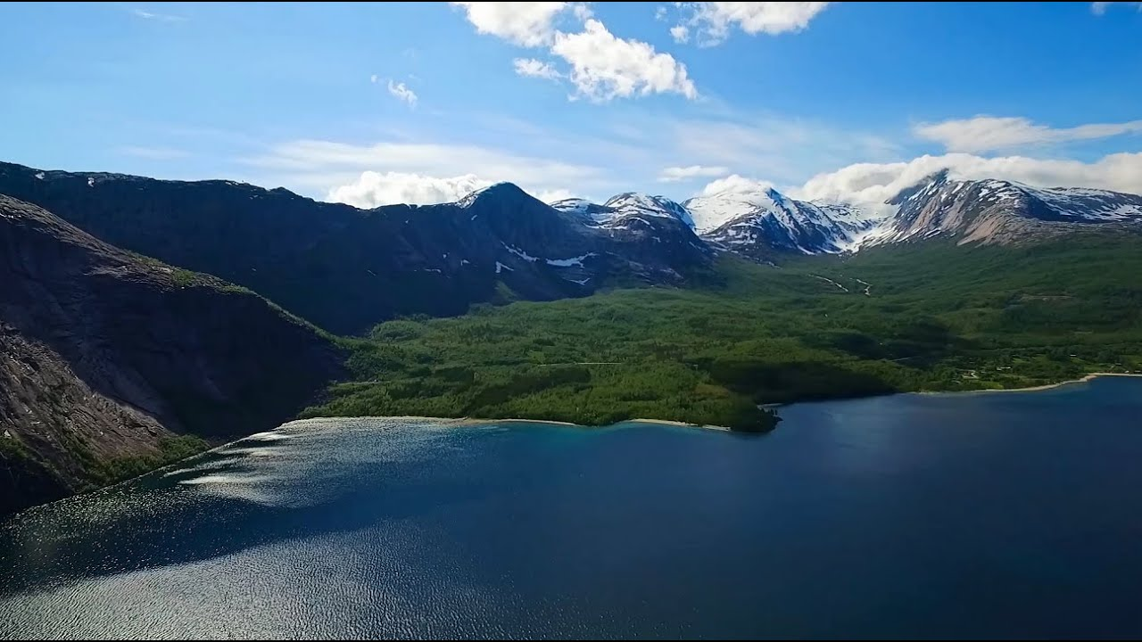 Drone video of Kobbvatnet in Sørfold