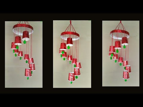 Wind chime // paper cup wind chime //How to make simple and easy wind chime at home