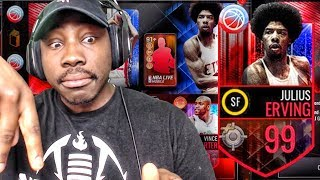 99 OVR FINAL BOSS DR. J & PACK OPENING! NBA Live Mobile Gameplay Ep. 149