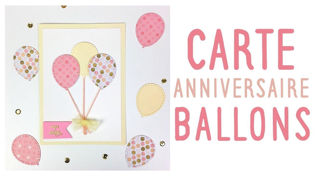 Tuto Carte Anniversaire Ballons Pnixie Youtube