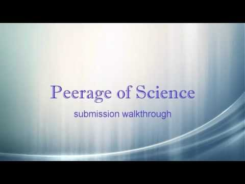 Peerage of Science Submission Walkthrough