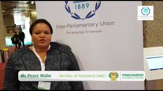 Ms Peace Mabeat the 138th Assembly of the IPU