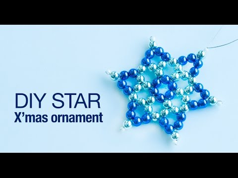 How to make  christmas star ornament | DIY star ornaments | christmas decoration |Beads art