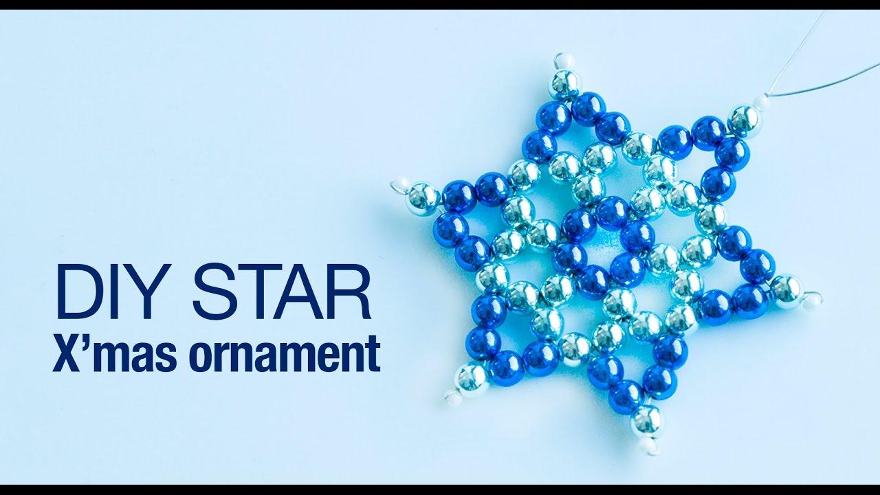 How to make christmas star ornament | DIY star ornaments | christmas ...