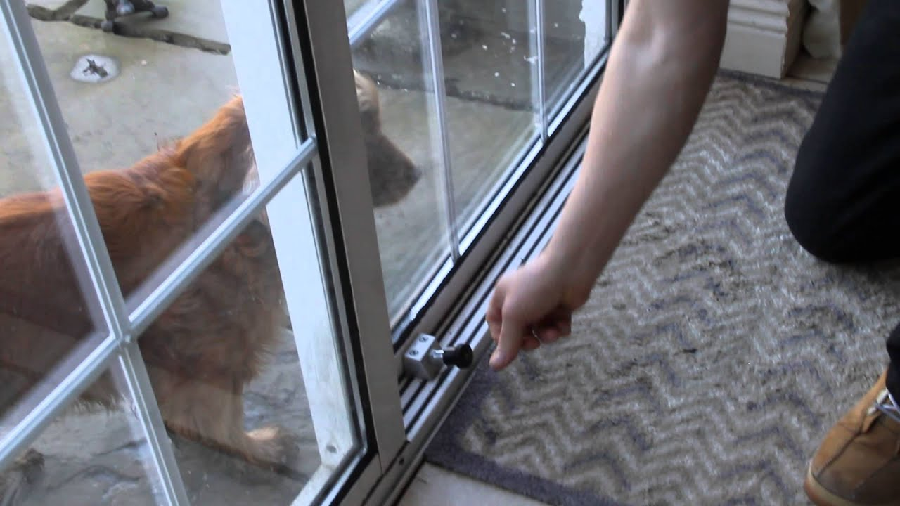 Best way to secure your sliding patio doors for Sliding glass doors security
