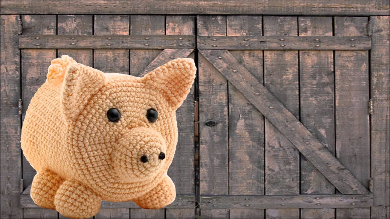 Pig Amigurumi Crocheted Toilet Paper Cover Youtube