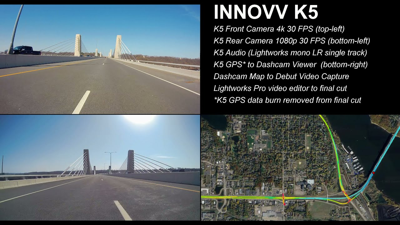 INNOVV K5 Motorcycle Dashcam System All In One