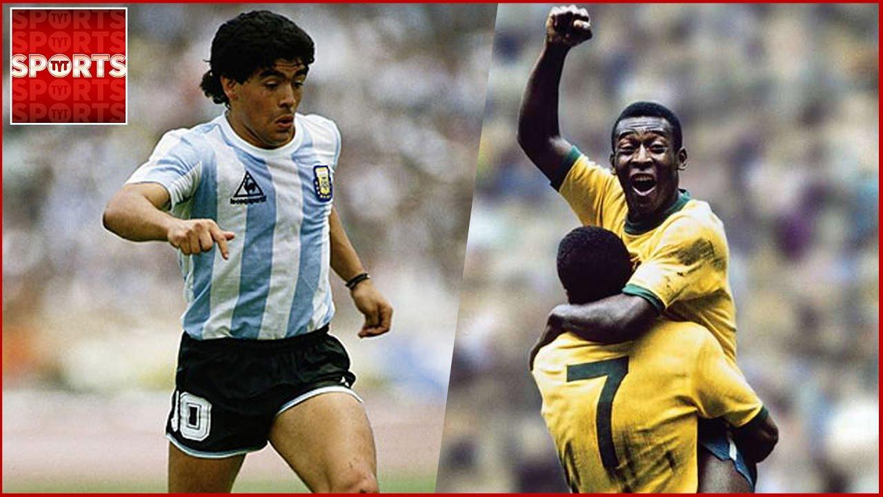 Pele And Maradona Together