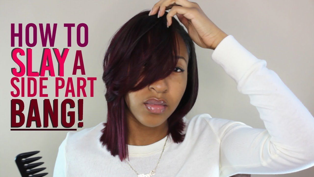 feathered bang tutorial + new style! - youtube