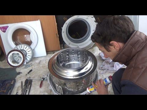 Как заменить подшипники на стиральной машине LG! ЧАСТЬ-2