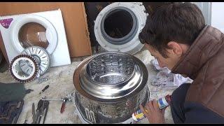 Як замінити підшипники на пральній машині LG! ЧАСТИНА-2