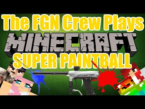 The FGN Crew Plays: Minecraft Mineplex Minigames - SUPER Paintball (PC)(FaceCAMS)