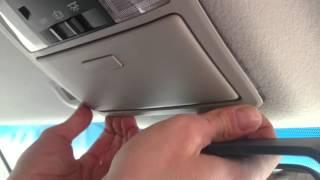 Prado150 Как снять передний плафон. How to remove front interior light box.