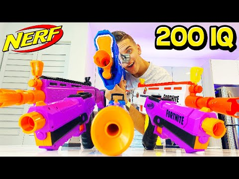 200 IQ NERF FORTNITE GUNS! (NERF BATTLE CHALLENGE)