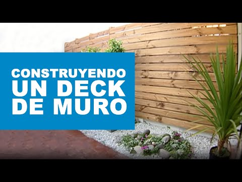 C mo construir un deck de muro youtube - Como forrar una pared con madera ...
