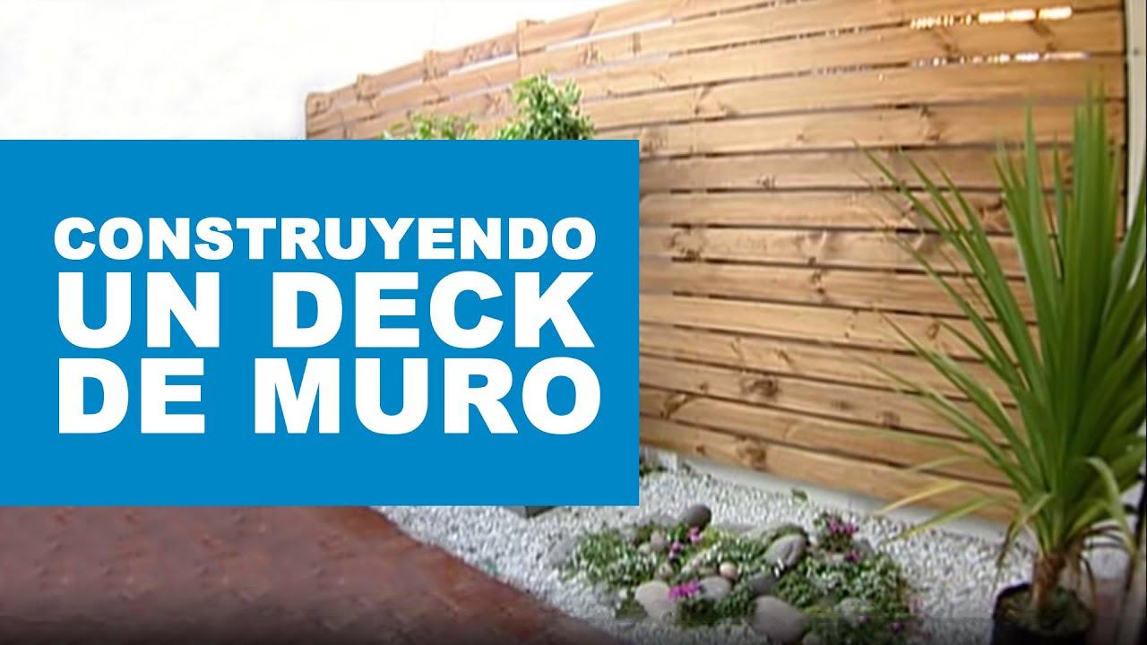 Cómo Construir Un Deck De Muro