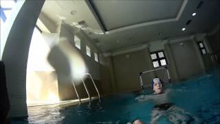 Играем в водное поло против 9 класса/Water polo