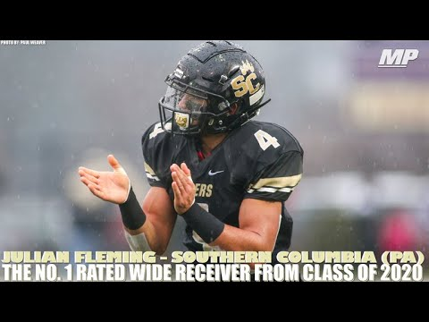 Best Receivers 2020 Julian Fleming   The No. 1 wide receiver in 2020   YouTube
