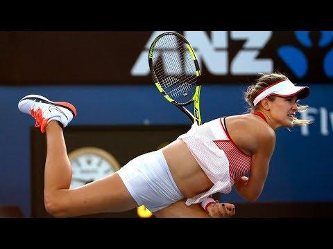 2016-01-20 Australian Open - Agnieszka Radwańska vs. Eugenie Bouchard (RD 2)
