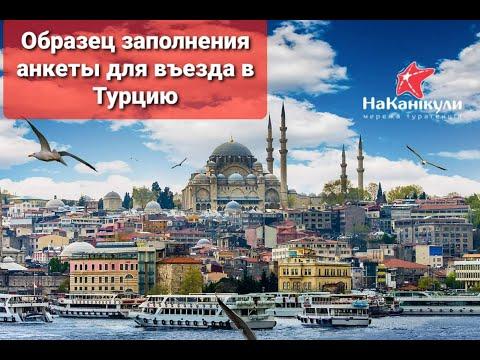 Образец заполнения анкеты или формы для въезда в Турцию, электронная форма для въезда в Турцию