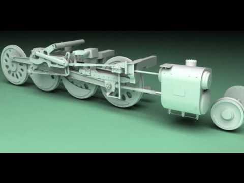 Big boy 4014 Steam engine animation - YouTube