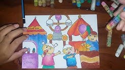 Wahkerenmenggambar Pasar Tradisional Dan Mewarnai Gradasi Dengan