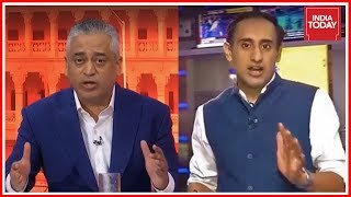 Rajdeep, Rahul Kanwal Grilling BJP Leader Aman Sinha After He Criticises JDS-Congress Coalition