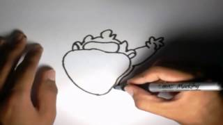 Como dibujar a Taz Baby Looney Tunes l How to draw Baby Taz Looney Tunes