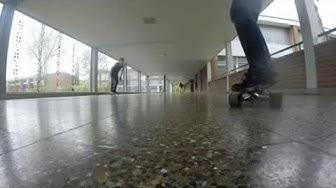 Sleiden in Schule Frick Longboarden