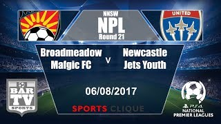Broadmeadow Magic vs Newcastle Jets Yo. full match