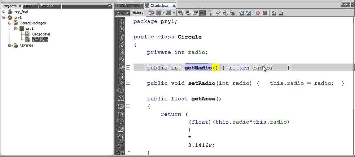 how to use get and set in java