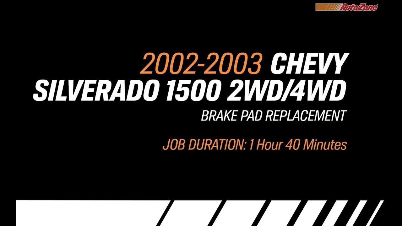 Replacing Brake Pads on a 2002-2003 Chevy Silverado - 2 or 4 Wheel Steering  - Make Model Series