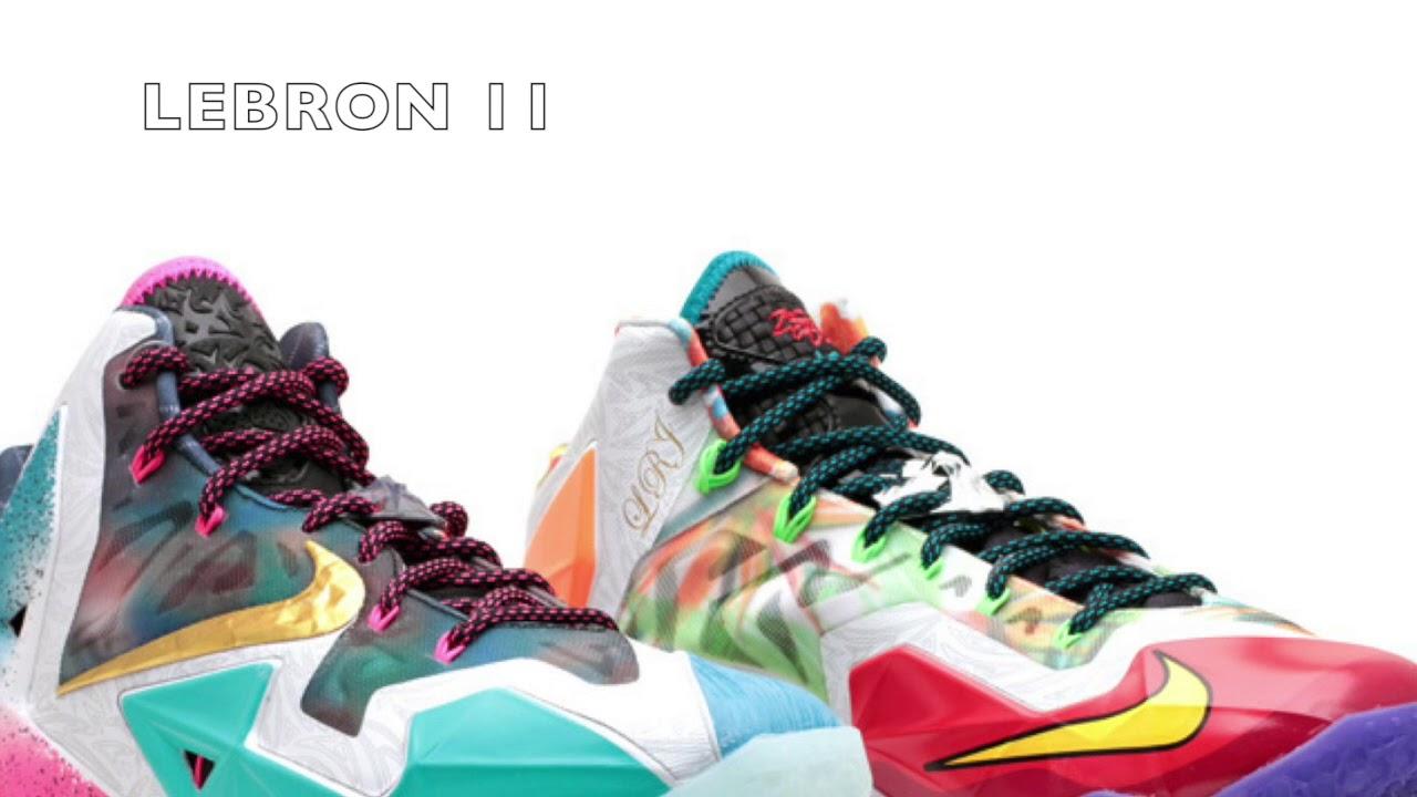 huge selection of e58e5 cdd58 Evolution of Lebron James Shoes (1-15)