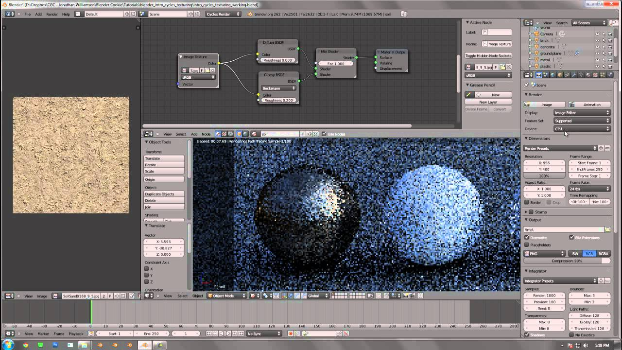 Introduction to Texturing with Cycles in Blender